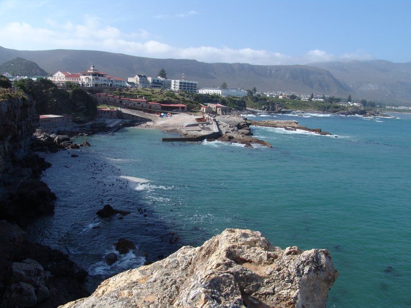 View of Walker Bay in Hermanus, South Africa