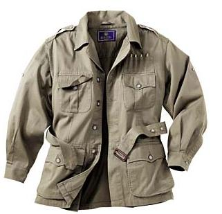 Typical khaki safari clothing