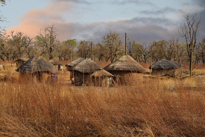 Ghana village in West Africa
