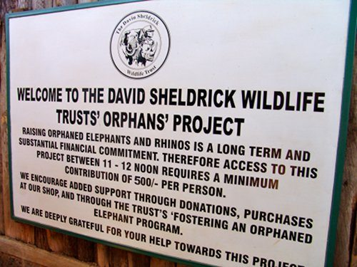 David Sheldrick Wildlife Trust entrance sign