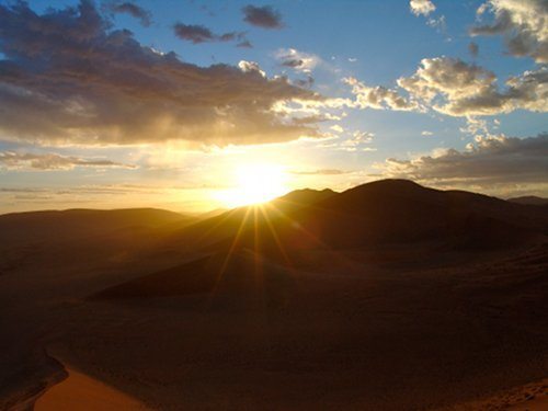 Magical sunrise at Dune 45