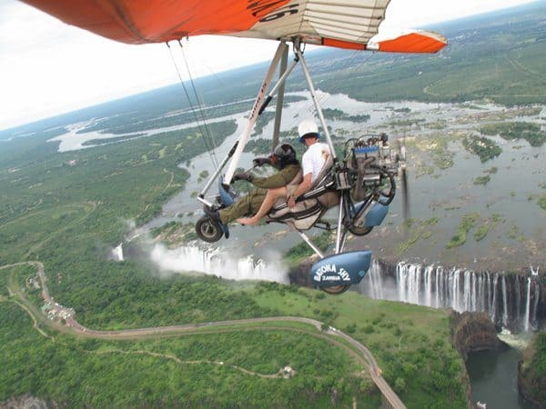 Wings of freedom over Vic Falls