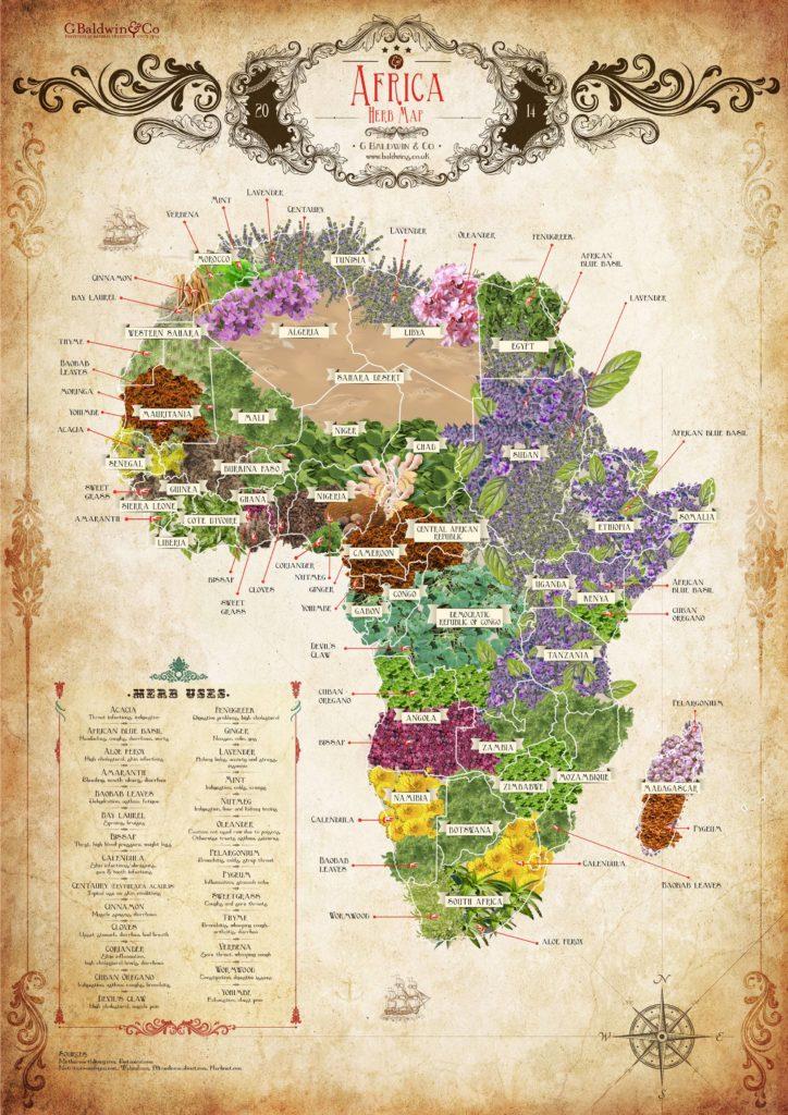 Africa Herb Map G Baldwin & Co
