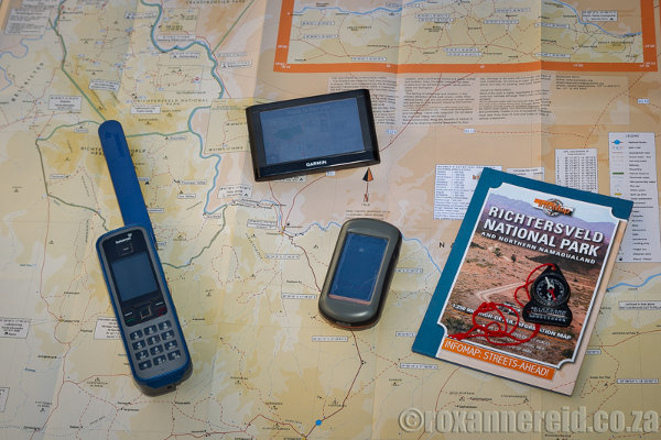Must-haves include a detailed map, GPS with good map software, and a satellite phone