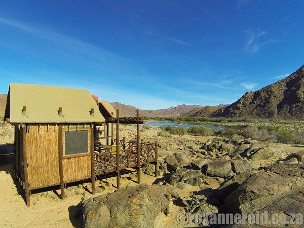 Tatasberg Wilderness camp has a wonderful view of the Orange River