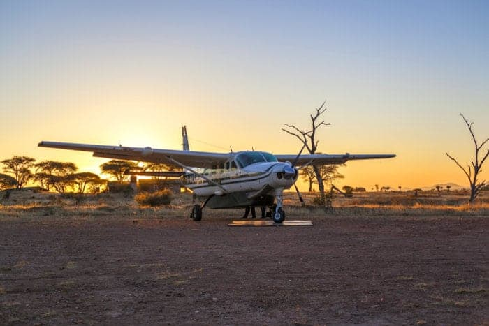 There are two airstrips in Ruaha National Park