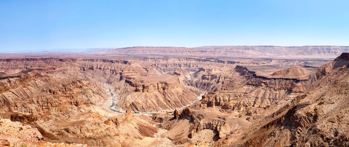 Scenic view of Fish River Canyon during the dry season