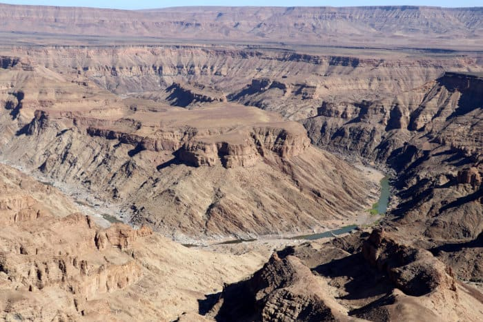 Sensational view of the Fish River Canyon in Namibia