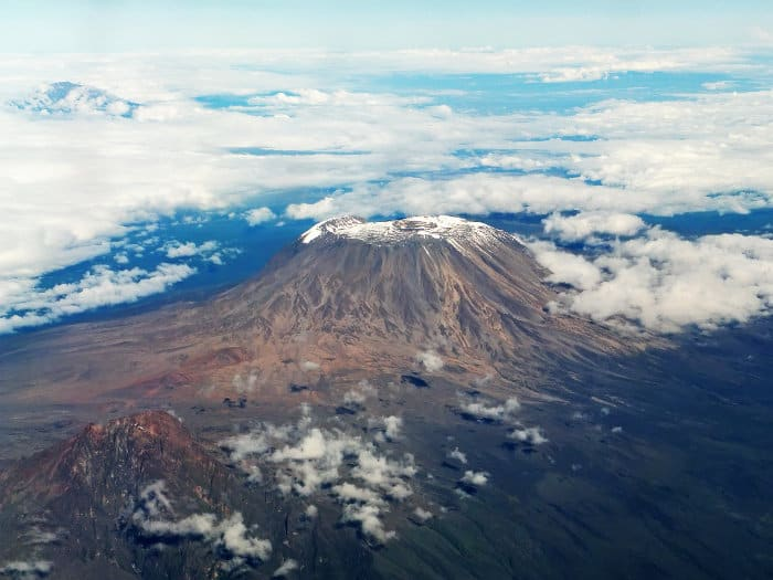 Kili view from plane