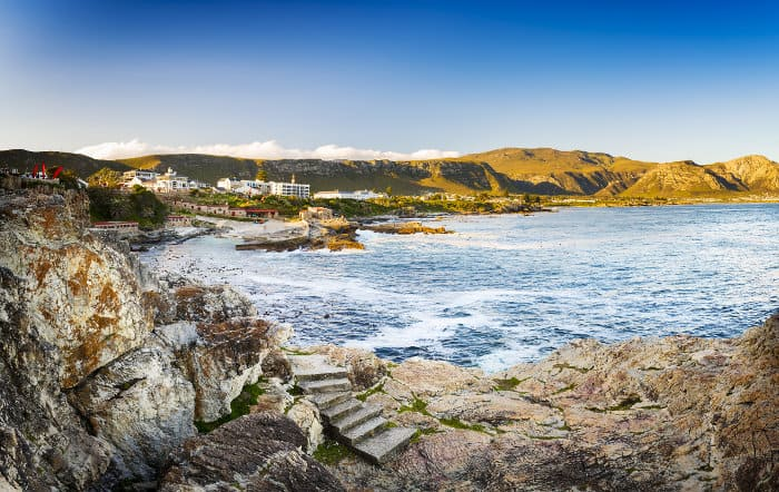 Whale watching town of Hermanus in South Africa