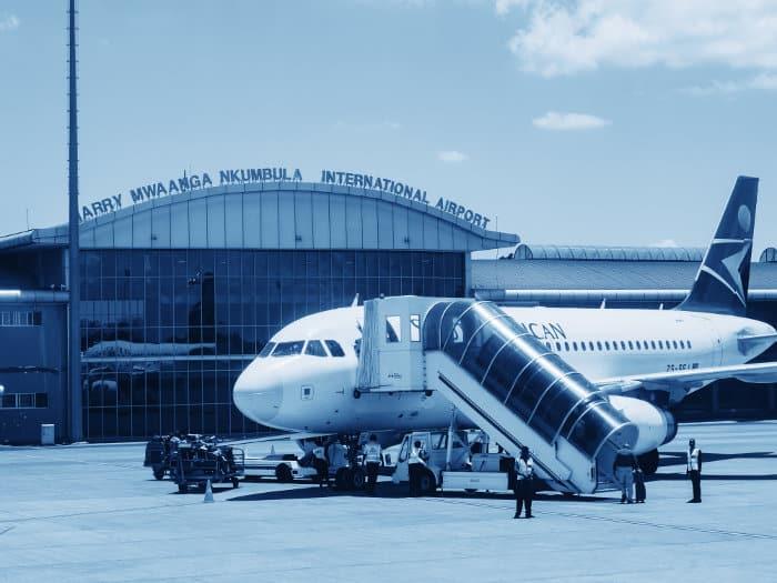 Harry Mwanga Nkumbula International Airport in Livingstone