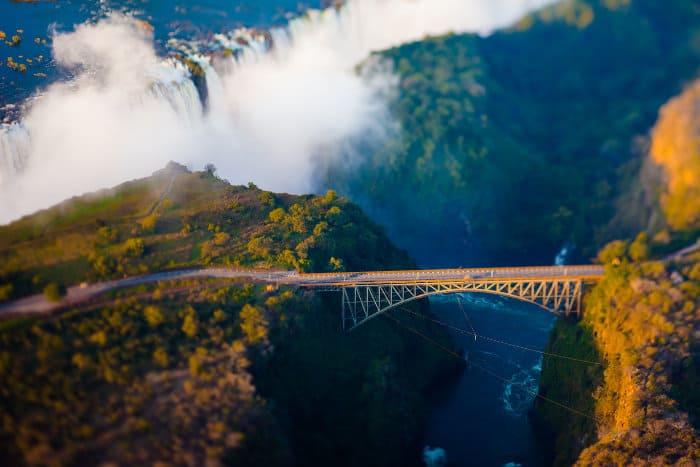 Victoria Falls Bridge bungee jump hot spot