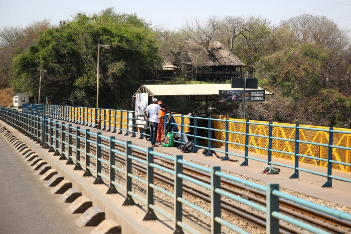 No Man's Land, on the Victoria Falls Bridge