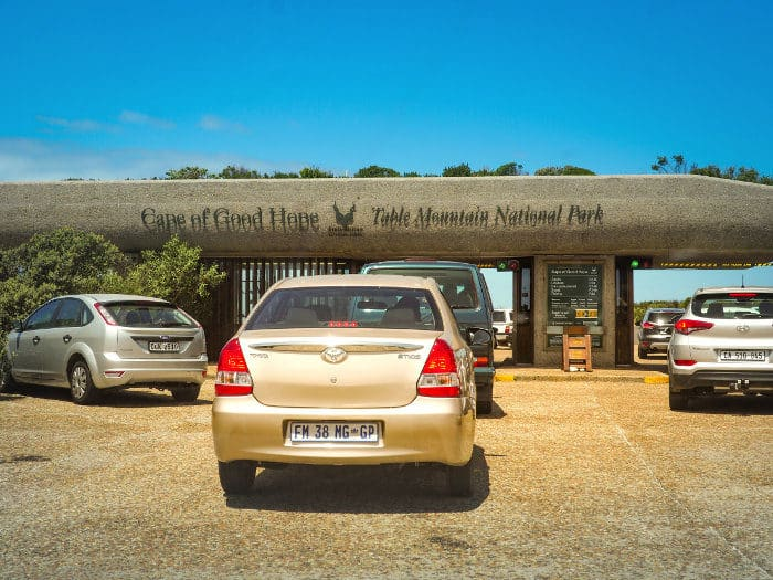 Table Mountain National Park entrance gate at Cape of Good Hope