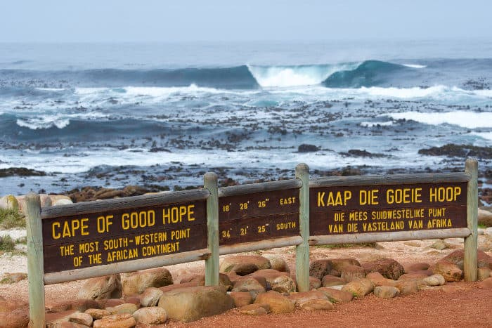 Cape of Good Hope, the most South-Western point of the African continent