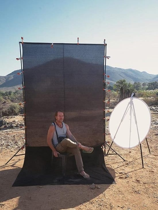 Christopher Rimmer on Location at Epupa in Northern Namibia