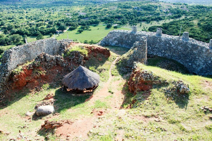 Great Zimbabwe aerial view