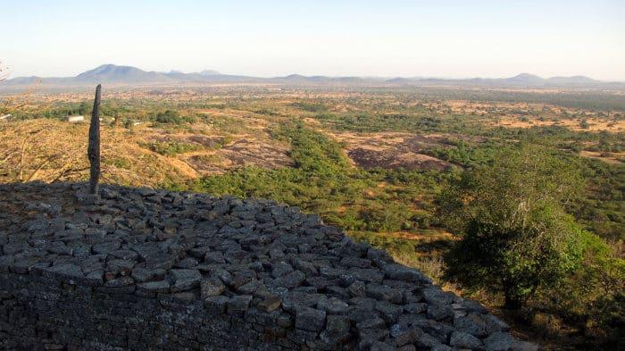Scenic view of Great Zimbabwe