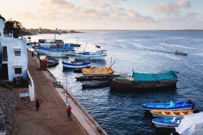 The beautiful city of Lamu, along Kenya's northeastern coast