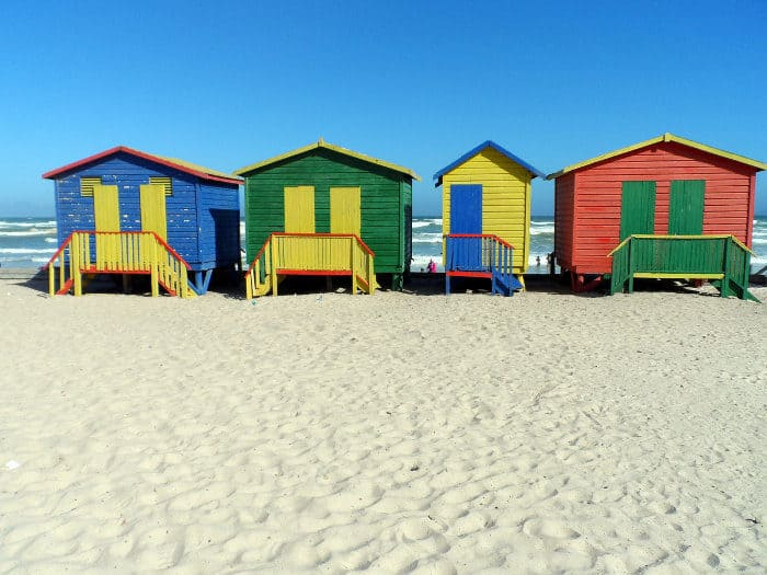 Muizenberg's vibrantly painted beach huts and gorgeous beach