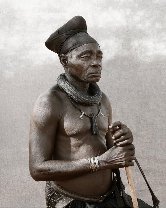 Ovahimba headman in Namibia