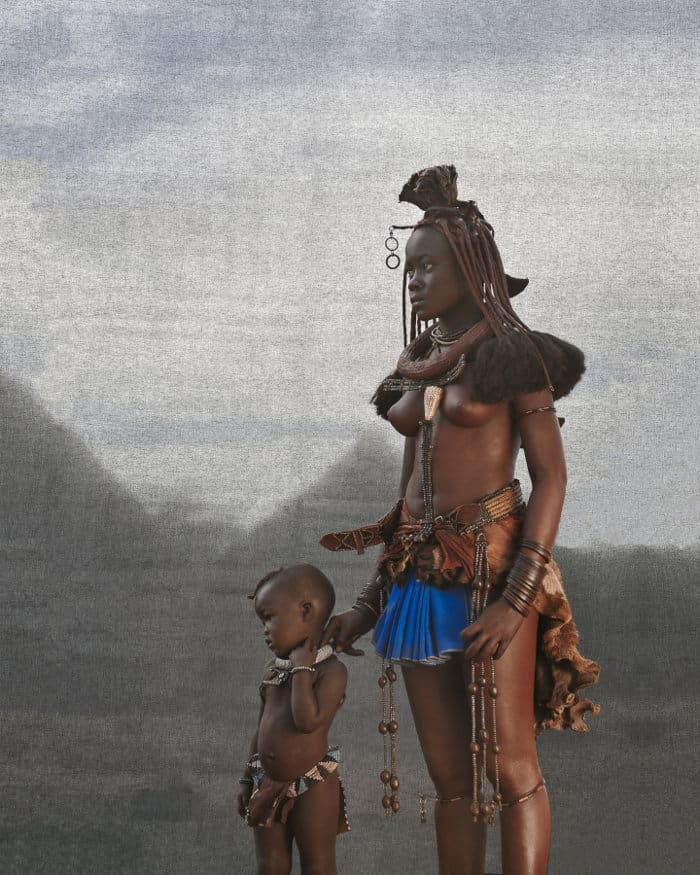 Ovahimba mother and child in Southern Angola