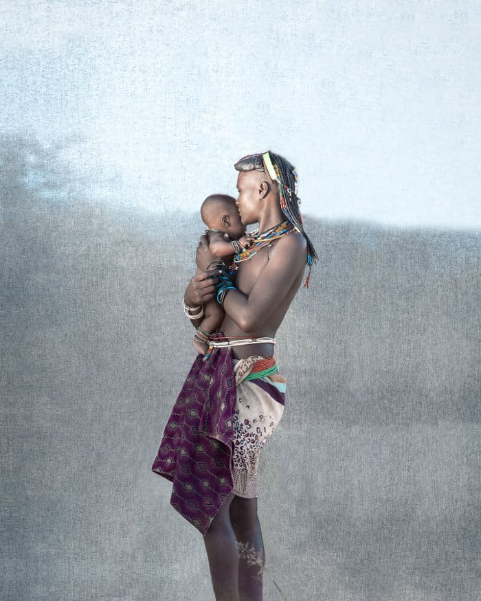 Ovakahona mother and baby in Southern Angola