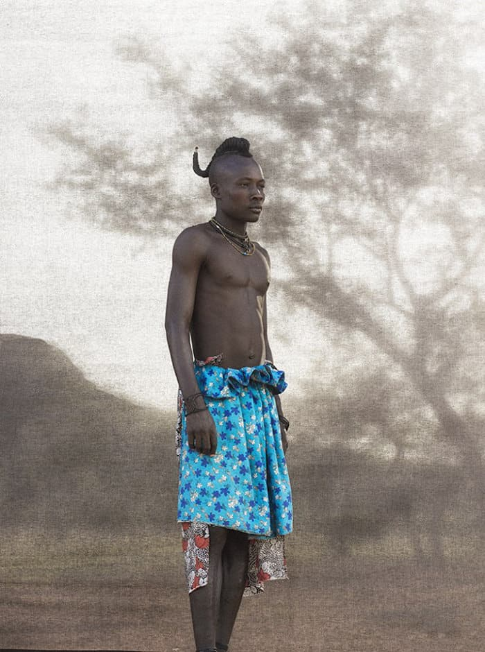 Young Ovahimba man in Namibia