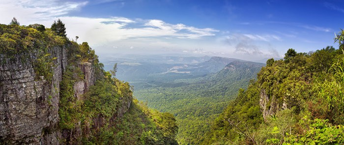 Panoramic view from God's Window along the Blyde River Canyon