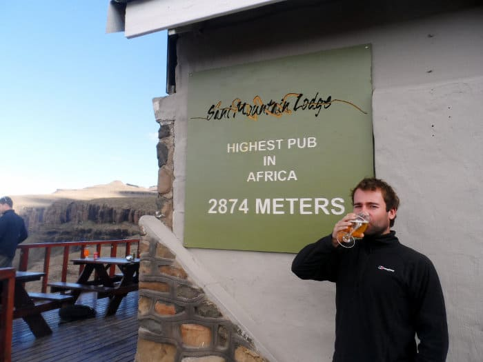 Sitting 2874m above sea level, Sani Mountain Lodge is home to the highest pub in Africa
