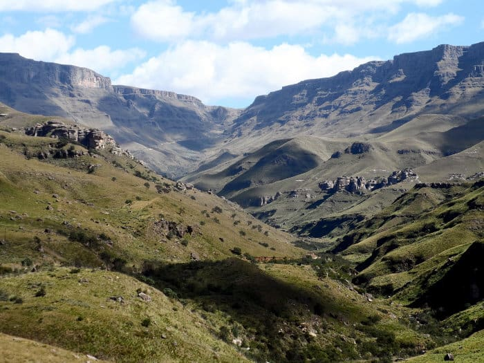 Southern Drakensberg is a wilderness area bordering South Africa and Lesotho