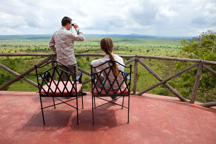 View from a local lodge in Tarangire