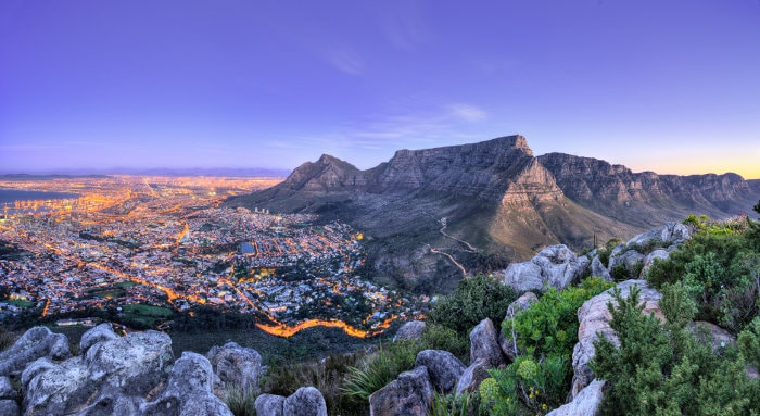 Spectacular panoramic view of Cape Town, South Africa's Mother City