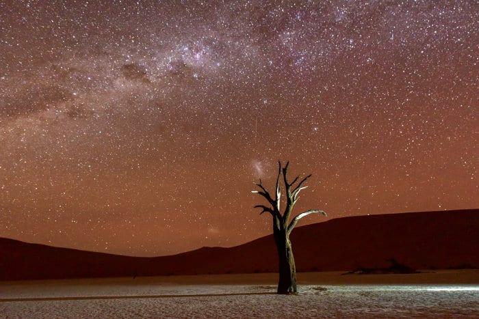 Deadvlei at dusk in Namibia