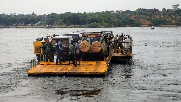 Paraa ferry crossing at Murchison Falls National Park