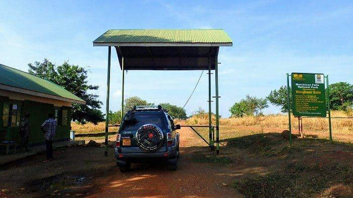 Murchison Falls National Park entrance gate