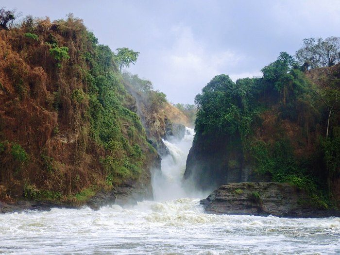 Impressive view of Murchison Falls on the Victoria Nile, northern Uganda