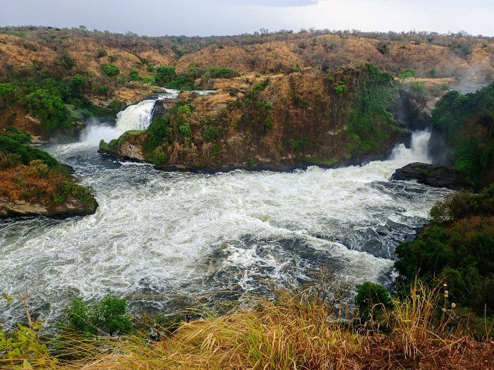 View of Murchison Falls in Uganda