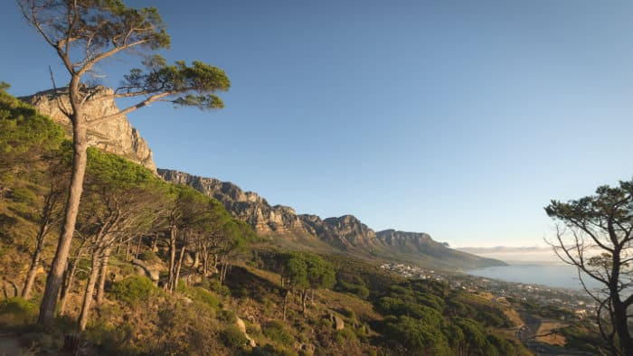 View from Pipe Track on Table Mountain, Cape Town