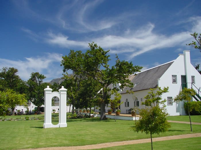 Spier wine estate with the old bell
