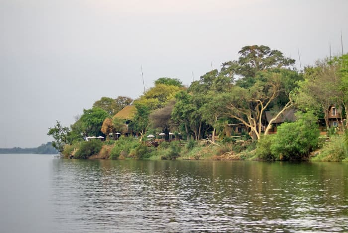 Lodge along the Chobe river