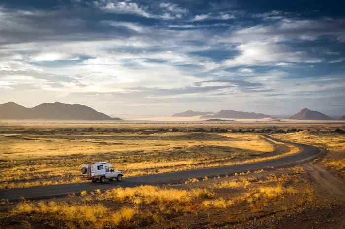 An early morning, on the way to Sossusvlei