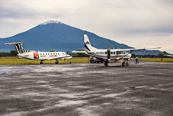 View of Mount Kilimanjaro from Arusha Airport