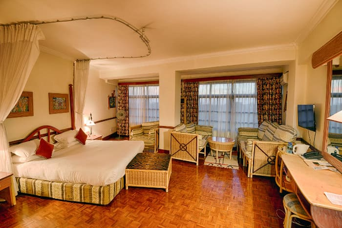 Typical room at the Impala Hotel in Arusha