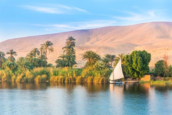 Nile river in Luxor, Egypt