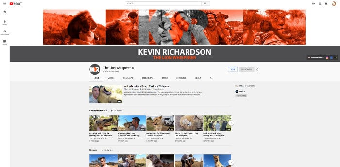 Kevin Richardson YouTube channel