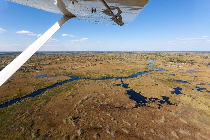 Scenic flight over the Okavango on a small bush plane