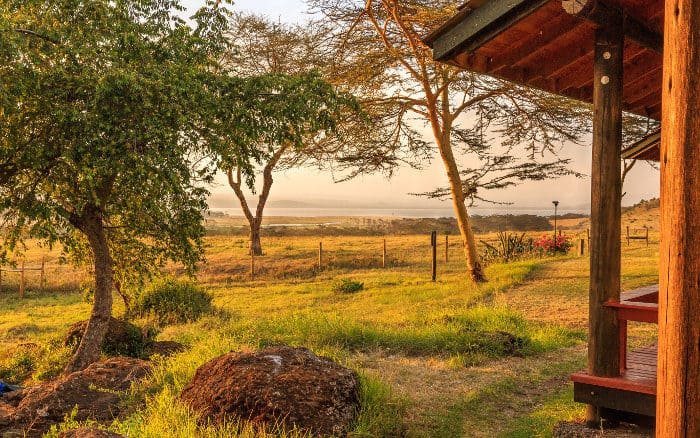 View from a safari camp in Lake Nakuru, Kenya