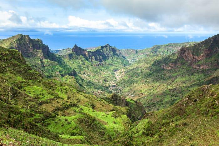 Serra Malagueta mountain range on the island of Santiago, Cape Verde
