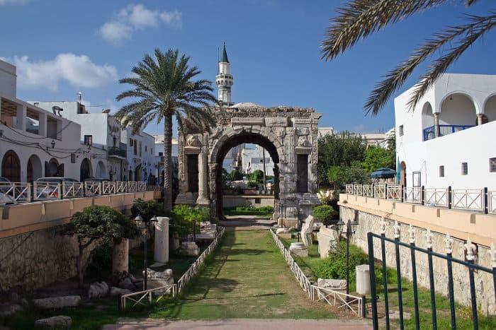 The Arch of Marcus Aurelius in Tripoli, Libya